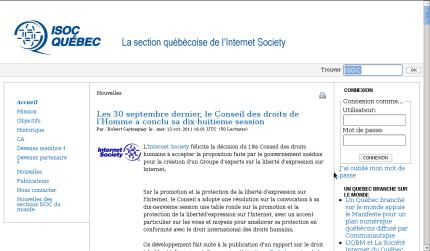 Site web ISOC Québec (2011-12-30)