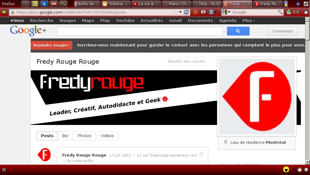 Nouveau look sur google+