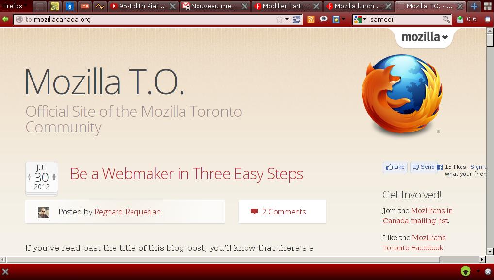 Mozilla Toronto, logo du Firefox