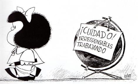 mafalda irresponsables trabajando mundo