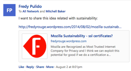 Promoting my idea inside Mozilla